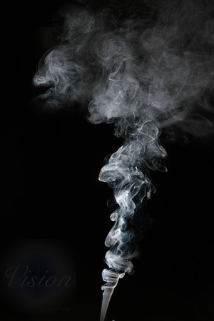 smoke art BW